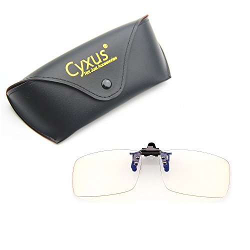 8aed221b84583 Cyxus Blue Light Filter UV Blocking Glasses  Clip On  Anti Eye Strain  (Sleep Better) Anti-Glare, Computer Cell Phone PC Game TV Safety Protection  Block ...