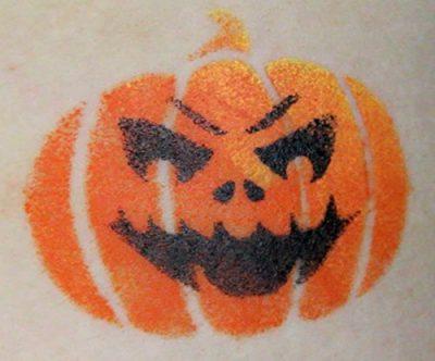 Face Paint Stencil Kit Halloween Pumpkin Painting For Kids