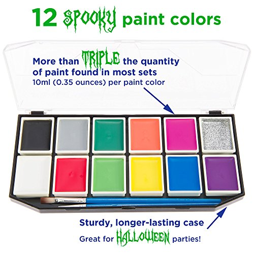 Halloween Face Paint Kit for Kids. X-Large Face Painting Set with 12 ...
