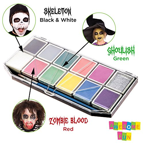 halloween face paint kit for kids x large face painting set with 12