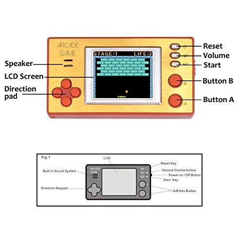 handheld portable arcade video game console iwawa retro