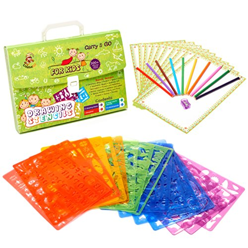 Large 43 Piece Drawing Stencils Kit More Than 300 Shapes Awesome