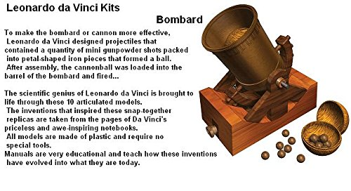 Leonardo Da Vinci Bombard Invention Model Kit Educational Toy And Reusable Toy Box Tote Bag