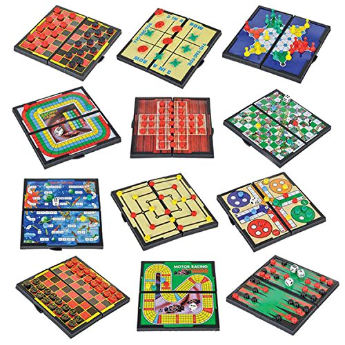 Magnetic Board Game Set By Gamie Includes 12 Retro Fun