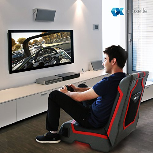 Miraculous Proxelle Video Game Chair Dual 3W Speakers Ps4 Ps3 Ps2 Xbox One Xbox 360 Nintendo Wii Connect Through Tv Dvd Ipod Iphone Android And Mp3 Inzonedesignstudio Interior Chair Design Inzonedesignstudiocom