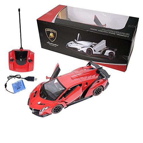 Worksheet. RW Radio Remote Control Lamborghini Veneno 114 Scale RC Car Red