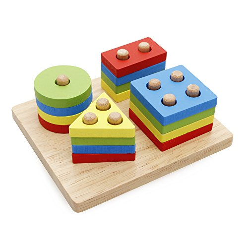 Toys For 2 And Up : Rolimate wooden educational preschool shape color