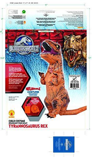 Rubieu0027s Costume ...  sc 1 st  Kid Inventor & Rubieu0027s Costume Co Jurassic World T-Rex Inflatable Costume (Childu0027s ...