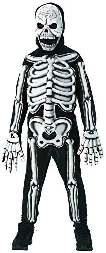 Rubies Glow in The Dark Skeleton Child Costume ...  sc 1 st  Kid Inventor & Rubies Glow in The Dark Skeleton Child Costume Small One Color ...