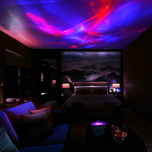 Scopow Night Light Lamp Aurora Projector And Speaker