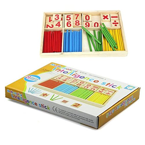 SMTSMT Kids Child Wooden Numbers Mathematics Learning Counting ...