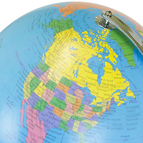 World Globe Inch Desktop Atlas With Antique Stand Earth - Geography map for kids