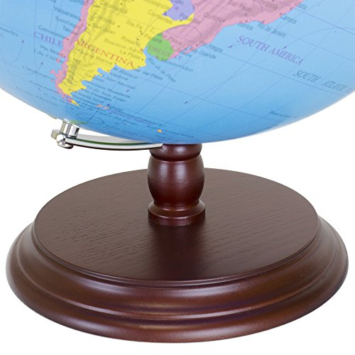 World globe 12 inch desktop atlas with antique stand earth world globe gumiabroncs Image collections