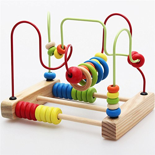 Montessori Baby Toys Classic Large Wire Beads Maze Wooden ...
