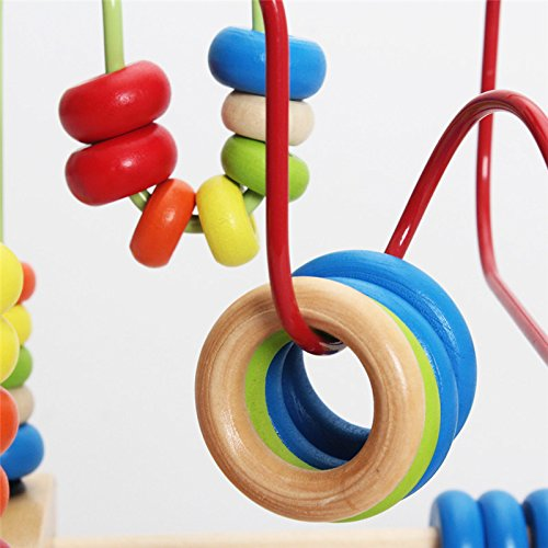 Classic Educational Toys : Montessori baby toys classic large wire beads maze wooden