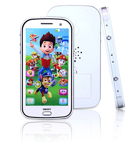 Cooplay White Dog Toy Mobile Cell Phone Touch Screen ...
