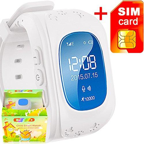 GBD GPS Tracker Smart Watch for Kids with Sim Card Smartwatch Phone  Anti-lost Finder SOS Gprs Children Fitness Tracker Wrist Watch Bracelet  with