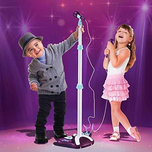 Kids Karaoke Machine With 2 Microphones Amp Adjustable Stand