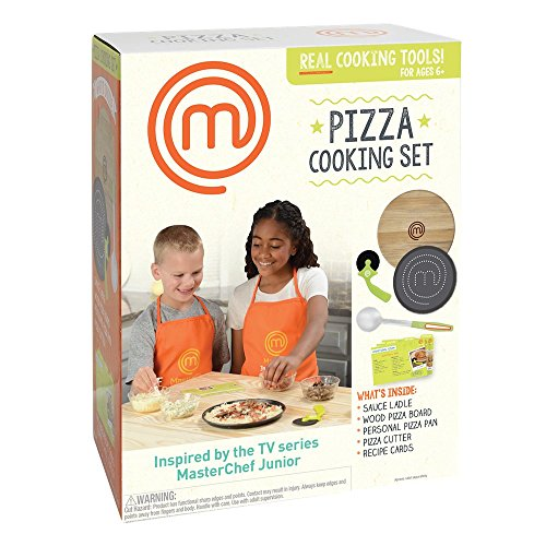 masterchef junior pizza cooking set 5 pc kit includes real cookware for kids and recipes kid. Black Bedroom Furniture Sets. Home Design Ideas