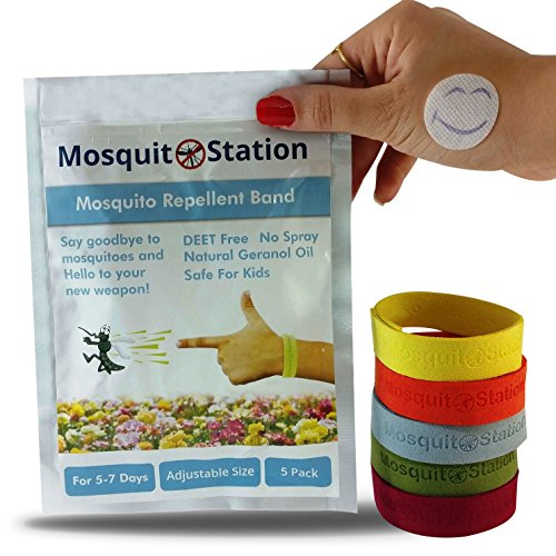 Natural Mosquito Repellent Bracelets 6 Colorful