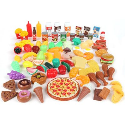 Pretend Food Toy Play Set Huge 125 Piece Ultimate Kitchen Set Great For Play Food Kitchen Toys
