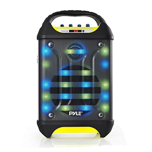 Pyle Wireless Pa System Karaoke Speaker Flashing Dj Lights
