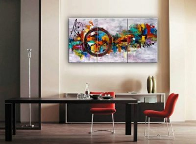 Santin Art Circle Of Magic Modern Canvas Wall Decor Abstract Oil Painting Contemporary Paintings Framed For Home 3