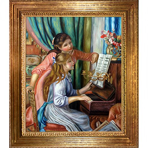 Overstockart young girls at the piano framed oil for Framed reproduction oil paintings