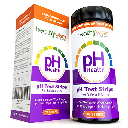 ph test strips 200ct – tests body ph levels for alkaline & acid levels  using saliva and urine  track and monitor your ph balance & a healthy diet,