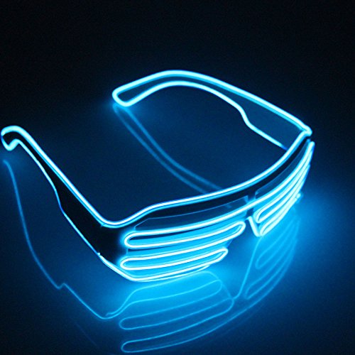 Apparel Accessories Fashion Flashing El Wire Glasses Light Up Glowing Halloween Party Rave Costume Men's Glasses